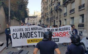 Paris 15 : Manifestation contre le camp de migrants