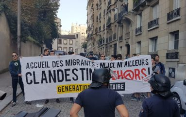 Paris 15 : Manifestation contre le camp de migrants