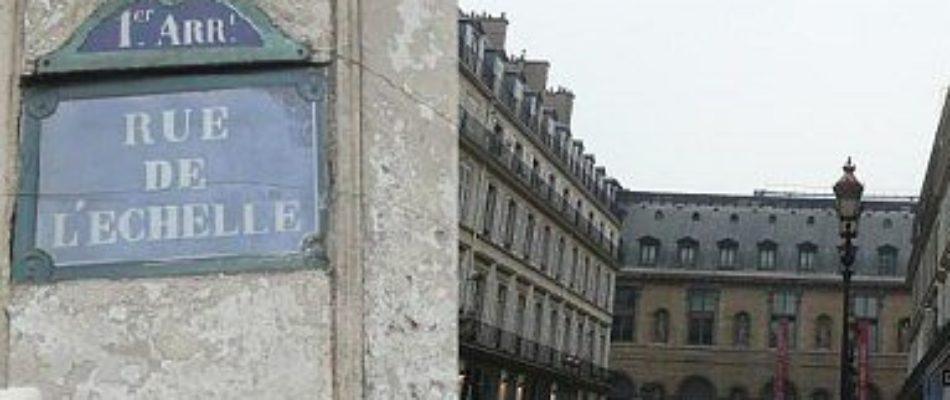 Histoire de Paris: fuite royale à la rue de l'Echelle