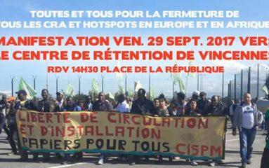 Manifestation d'immigrés clandestins à Paris
