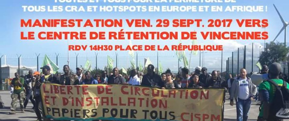 Manifestation d'immigrés clandestins à Paris