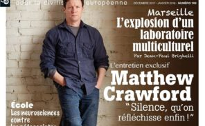 22 novembre: sortie du nouveau numéro de la revue «Eléments»