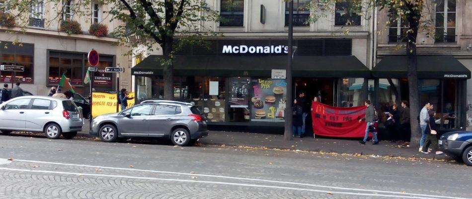 Conditions de travail et hygiène: Des salariés de Mc Donald's manifestent