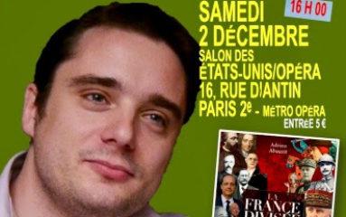 Samedi 2  décembre: conférence d'Adrien Abauzit