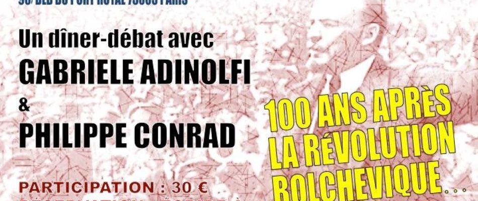 100 ans de la révolution bolchévique: diner débat à Paris