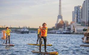 Grosse affluence pour la course de «stand-up paddle» sur la Seine