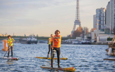 Grosse affluence pour la course de « stand-up paddle » sur la Seine