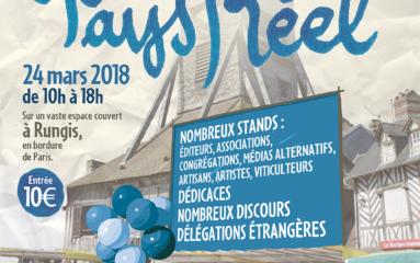 Fête du Pays Réel le 24 mars 2018 à Rungis, l'événement catholique et patriote