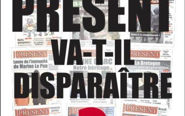 L'appel aux grands quotidiens du journal Présent