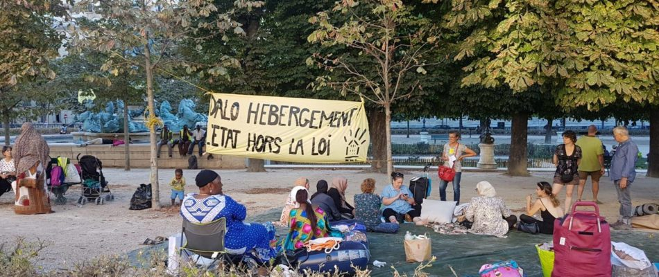 Jardin des Grands Explorateurs (Paris 6) : occupation par Droit au Logement