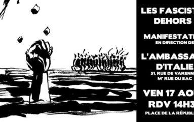 Collectif des sans-papiers 75: «Les fascistes dehors!»