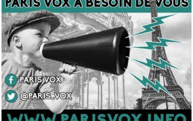 C'est la rentrée! Paris Vox a besoin de 2500 euros!