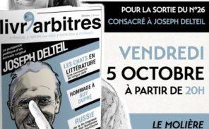Vendredi 5 Octobre: Soirée «Livr'arbitres»