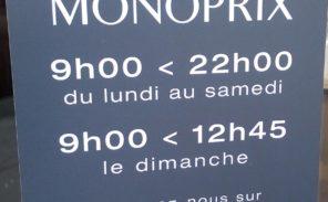 Monoprix devra fermer à 21h00