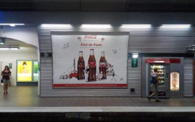 Coca-Cola colonise le métro!