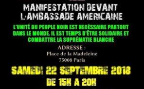 La ligue de défense noire africaine manifeste contre les violences policières aux USA
