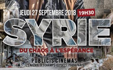 «Syrie, du chaos à l'espérance» projeté en faveur de SOS Chrétiens d'Orient