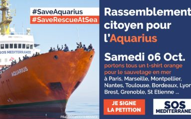 Un rassemblement pour «l'Aquarius» samedi à Paris