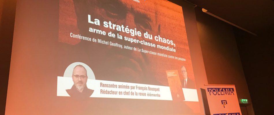 """""""La stratégie du chaos, arme de la super-classe mondiale"""""""