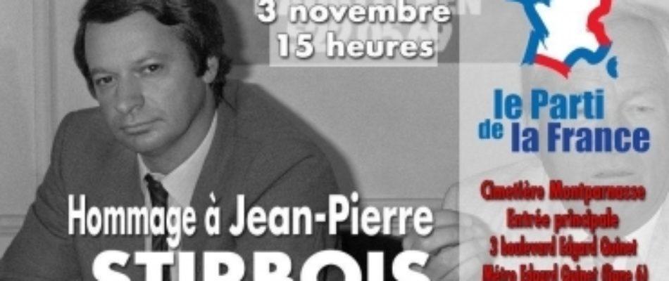 Un hommage à Jean Pierre Stirbois le 3 novembre