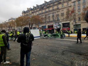 Champs-Elysées Gilets Jaunes