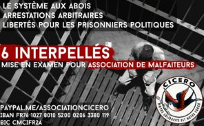 L'association Cicero organise la défense des militants face à la répression