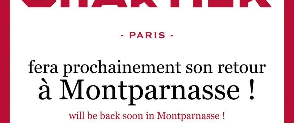 Chartier de retour à Montparnasse