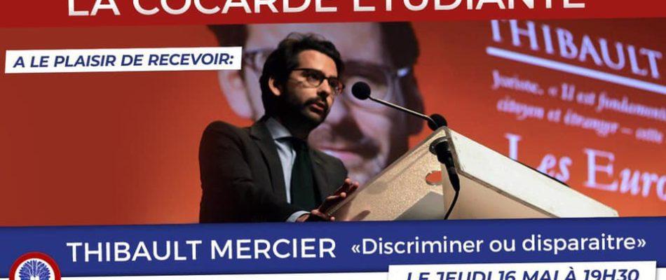 Thibault Mercier invité par la Cocarde étudiante.