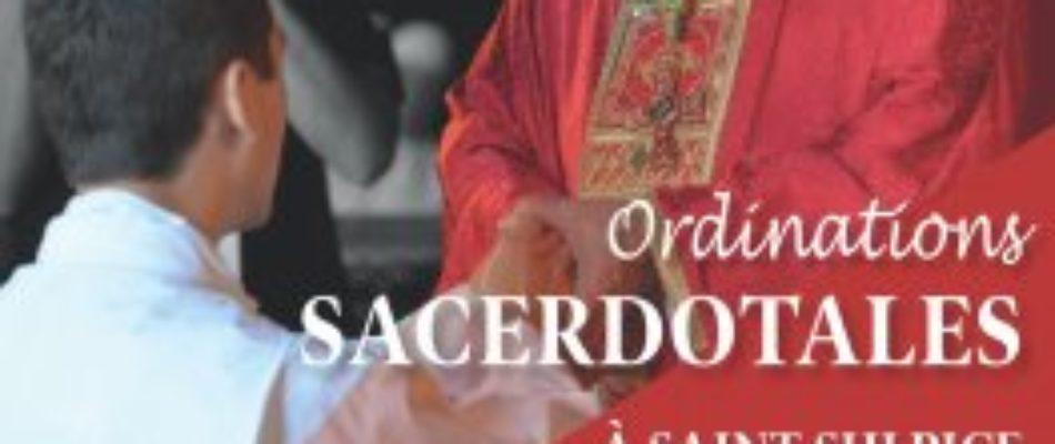 Ordinations sacerdotales à Saint-Sulpice