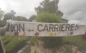 Riposte citoyenne face au projet de carrières cimentière.