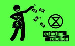 La rue de Rivoli bloquée par des militants « d'Extinction Rebellion »