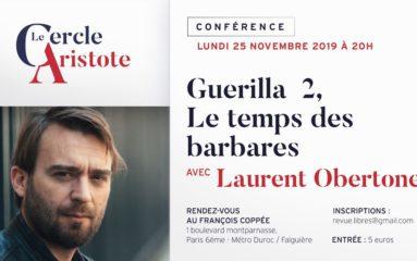 Conférences à venir du Cercle Aristote (octobre – novembre).