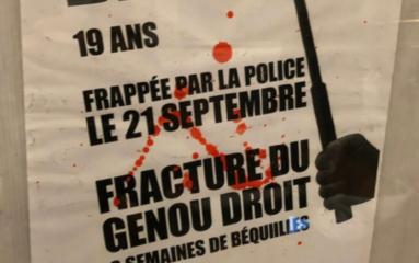 Paris: des affiches contre les violences policières sur les murs du métro