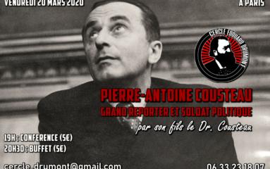 Conférence: Pierre-Antoine Cousteau, grand reporter et soldat politique (Reportée à une date ultérieure)