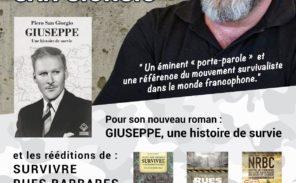 """Piero-San Giorgio: une référence du """"survivalisme"""" en dédicace à Paris"""