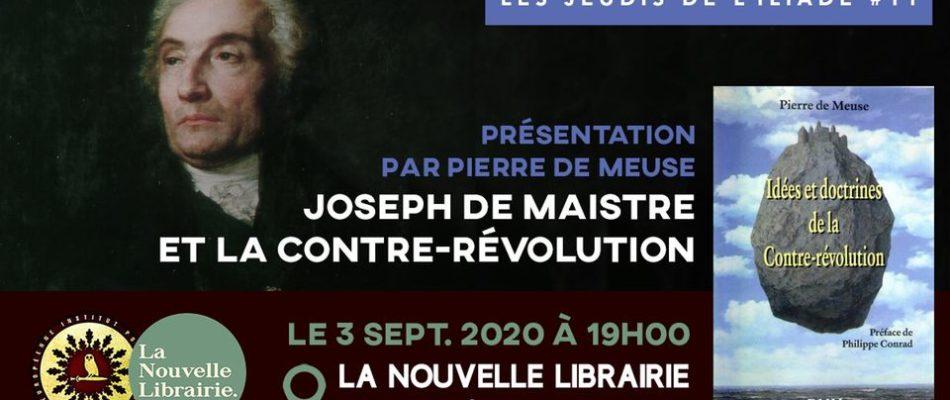 Découvrir notre histoire: Joseph de Maistre et la contre-révolution
