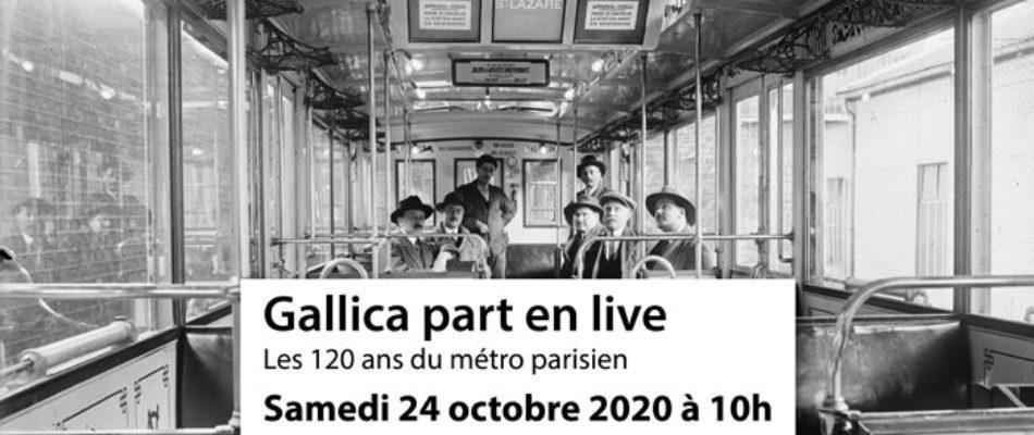 Gallica fête les 120 ans du métro parisien