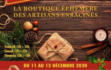 Préparer Noël : la boutique éphémère des artisans enracinés