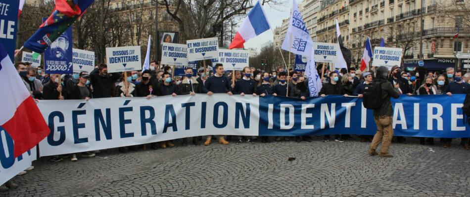 Manifestation de soutien à Génération Identitaire: notre reportage
