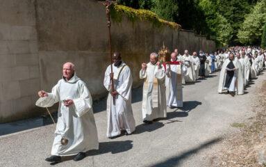 L'abbaye d'Aiguebelle en Provence, où les cigales s'unissent en choeur aux chants des moines !