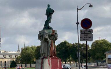 La statue du général Gallieni a nouveau vandalisée