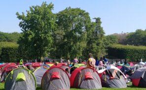 Nouveau campement de migrants clandestins parc André Citroën